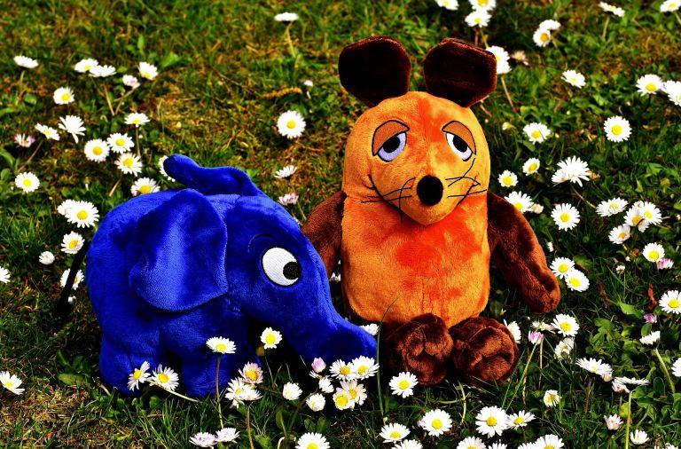 Mouse and elephant teddy bear