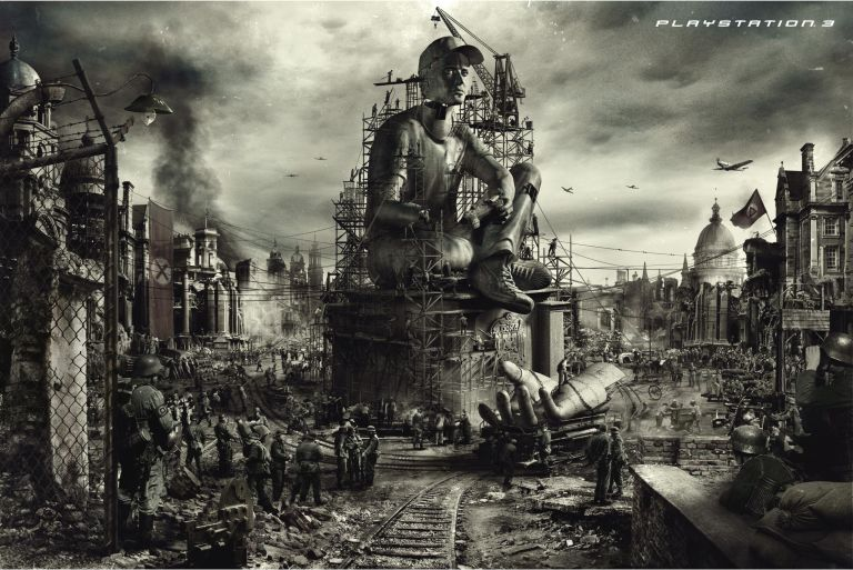 Playstation 3: Advertisement art - Soldiers