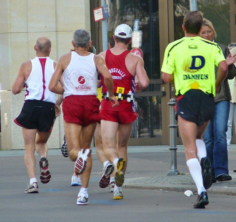 Joggers, runners, men