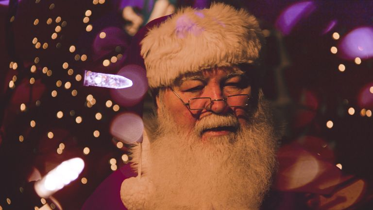 Santa Claus: Old man with white beard, father christmas