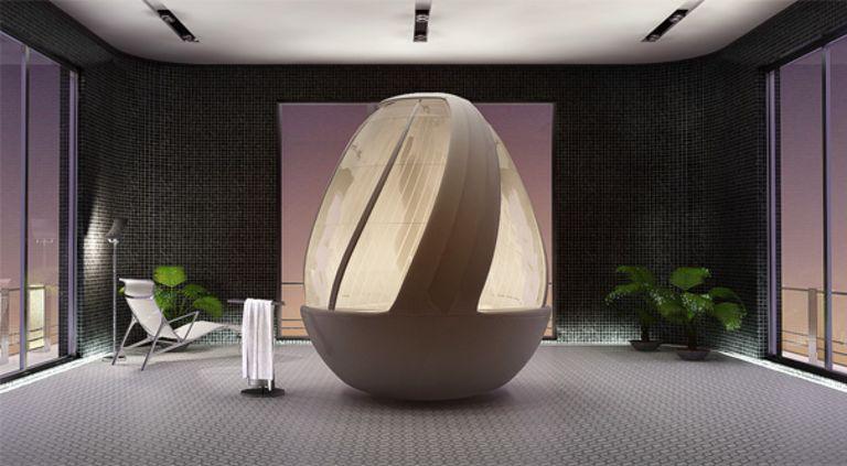 Arina Komarova's shower concept: Spiral egg