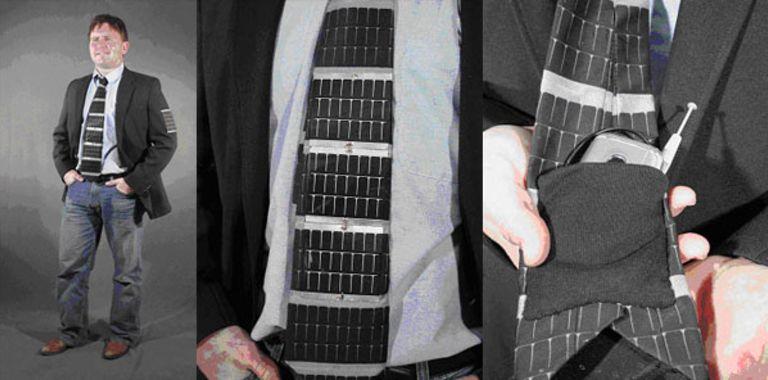 Solar tie, necktie, concept fashion