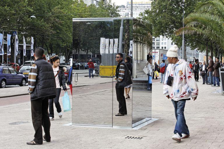 Monica Bonvicini: transparent toilet art installation