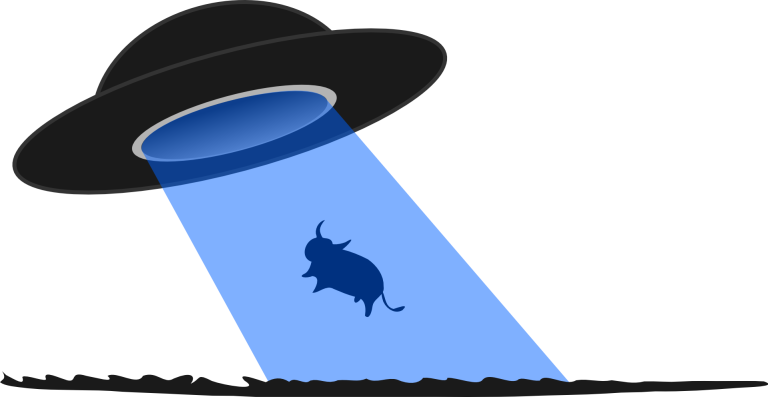 UFO, flying saucer, cattle mutilation, abduction, cow