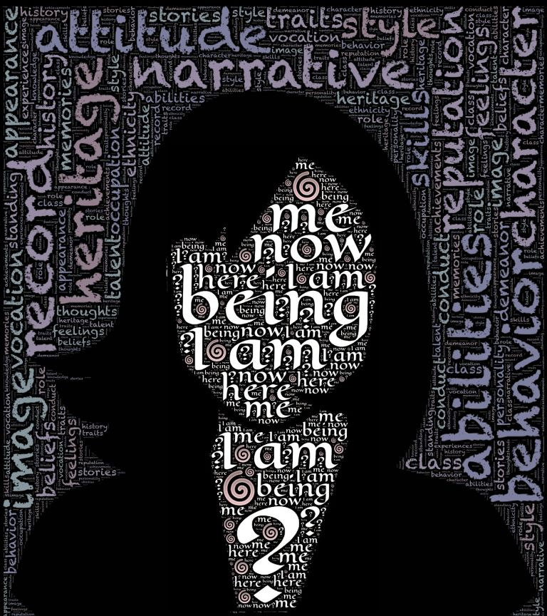 Woman: Being, I am, Me, Here, Now, Face