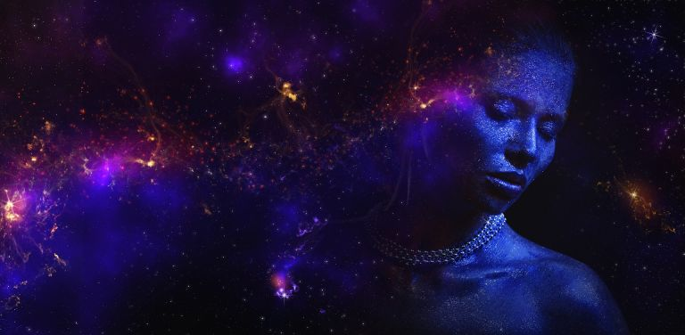 The universe appears in the mind of the diva