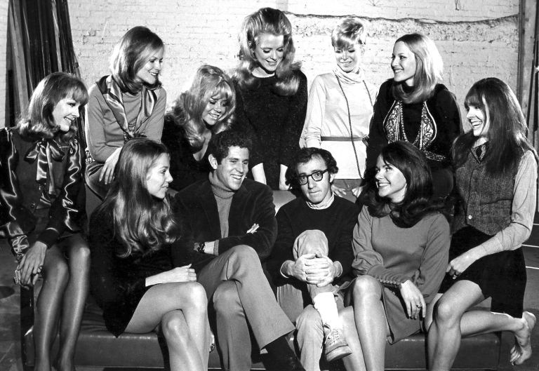 Woody Allen with the Broadway cast of 'Play It Again, Sam'