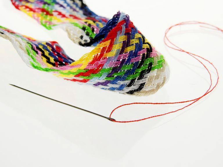 Colorful yarn, thread, sew