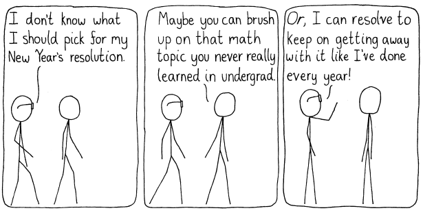 A conversation in which, like every other physics student in existence, the student tries to avoid actually learning the mathematical details of what they work with.