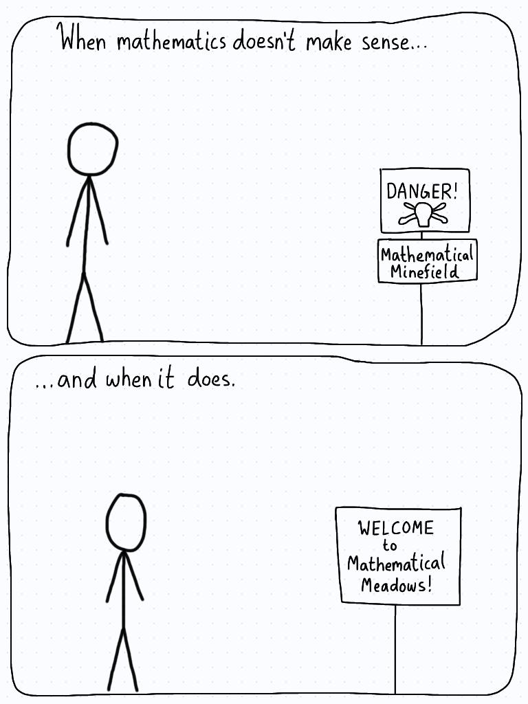 When mathematics doesn't make sense.