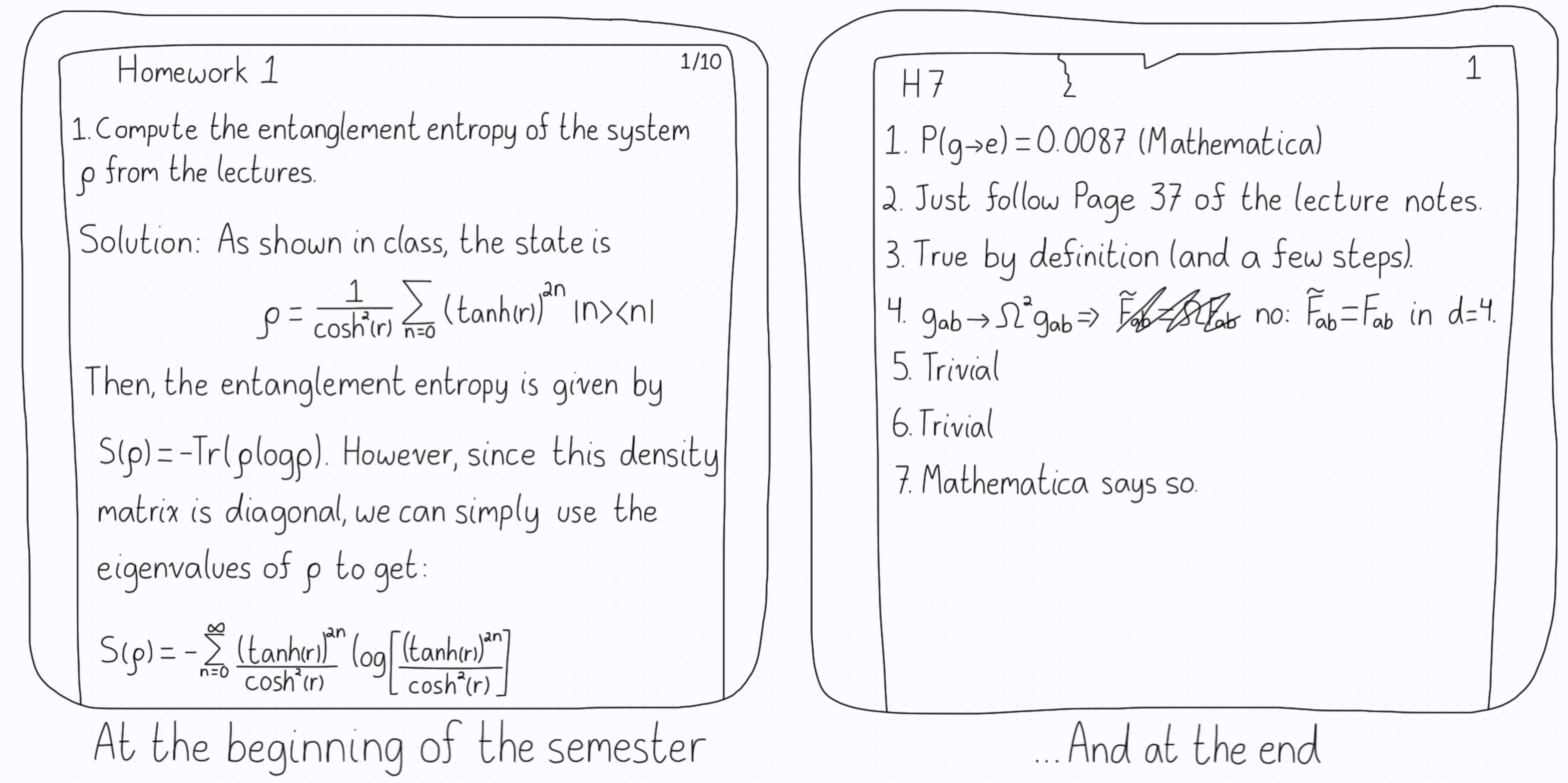 Homework progression.