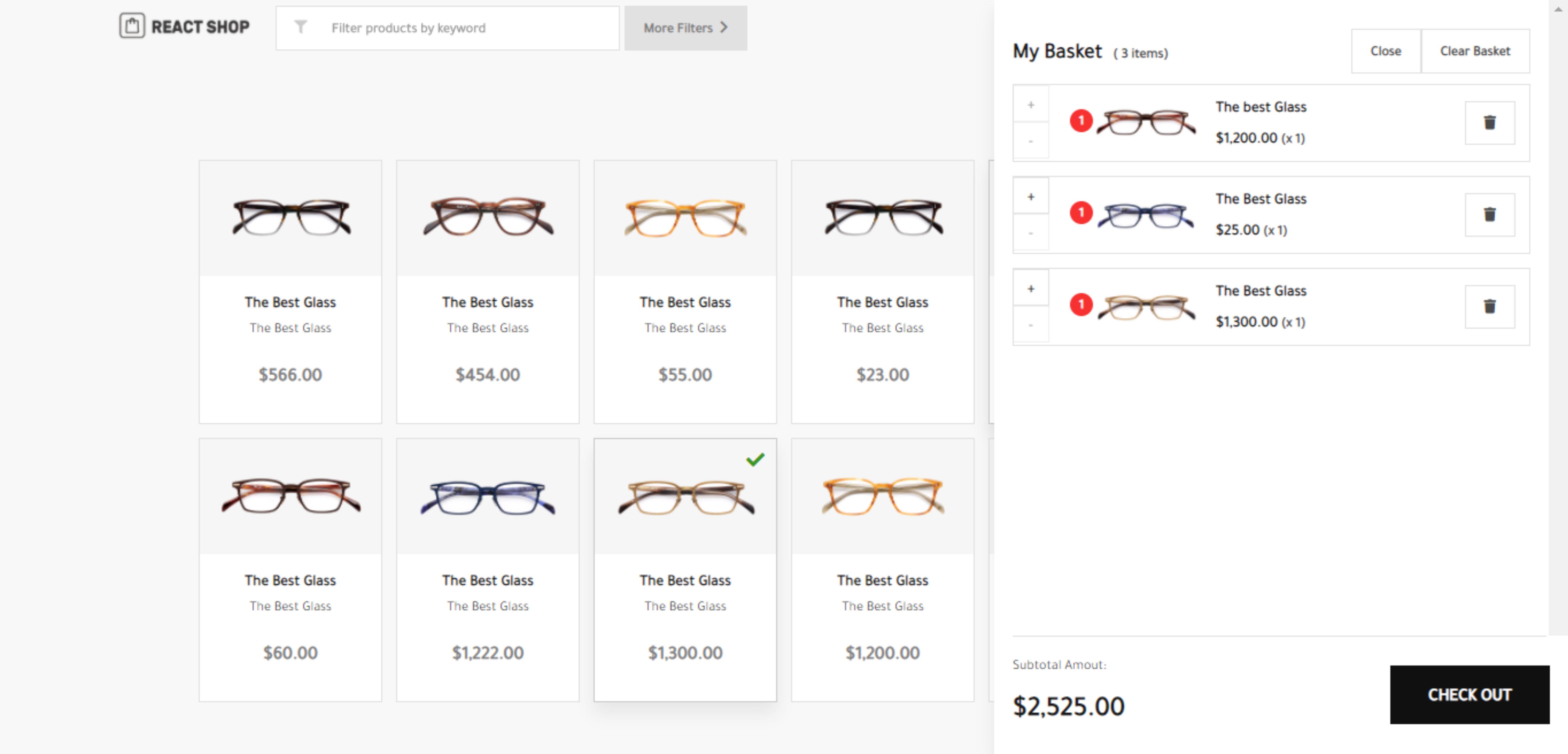 React Shop screenshot