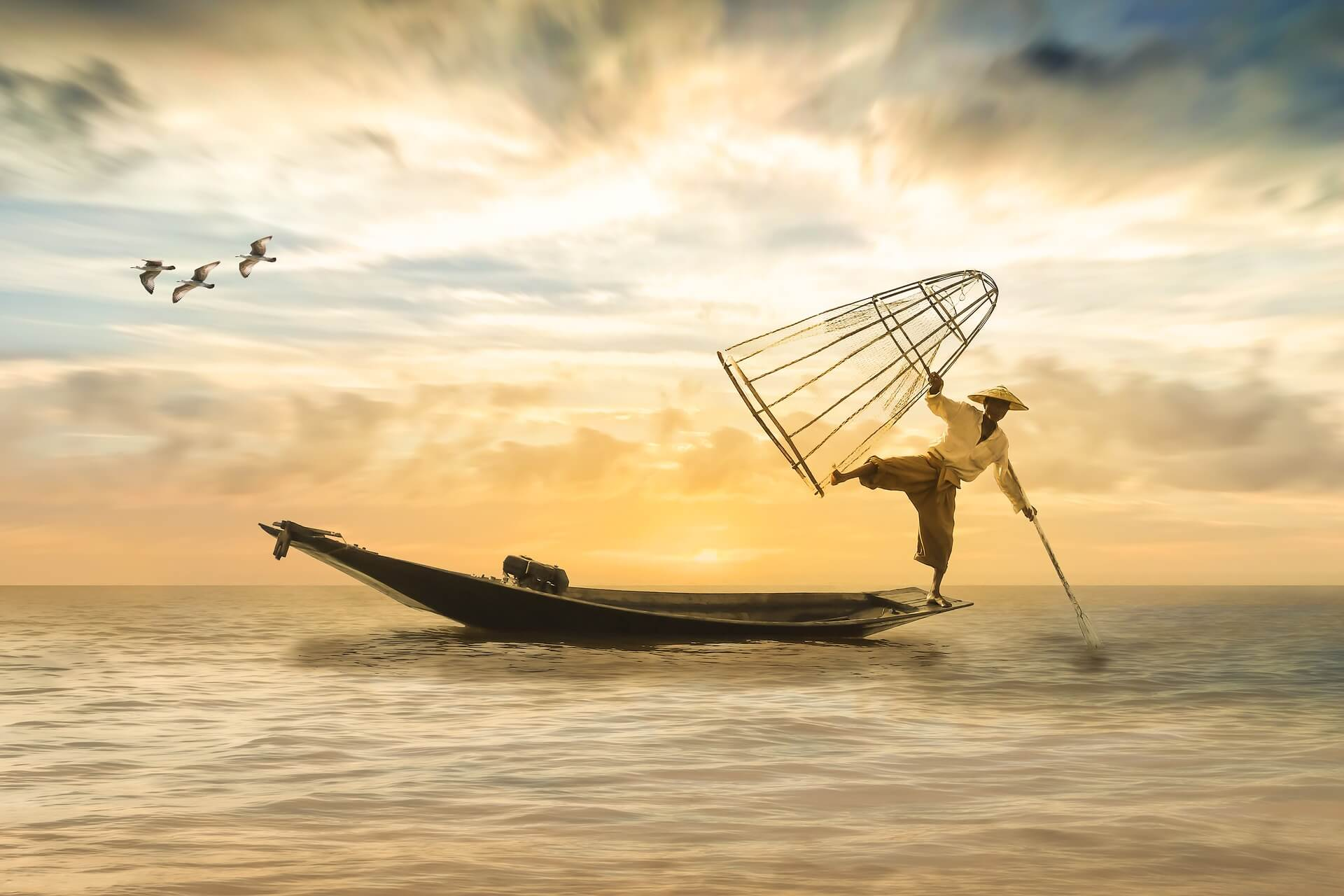 perfect fishing boat