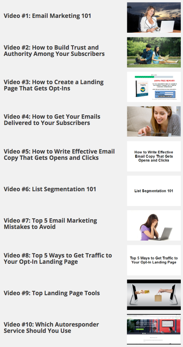 Email List Secrets Videos