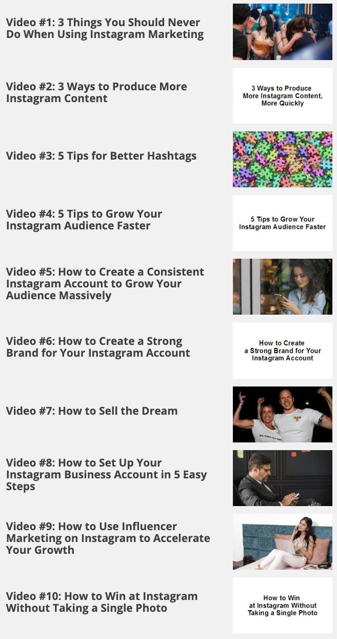 Instagram Marketing Secrets Videos