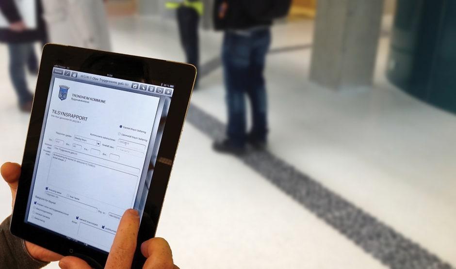 Raskt og effektivt tilsyn via iPad