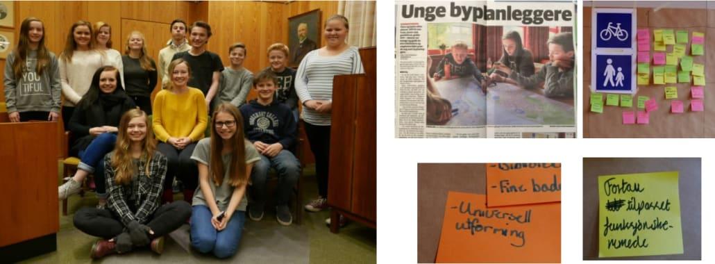Ungdomsrådet viste at de hadde lært om universell utforming, da de deltok på ungdomsverkstedet.