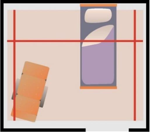 Traversløsning som kan dekke hele eller deler av rommet.