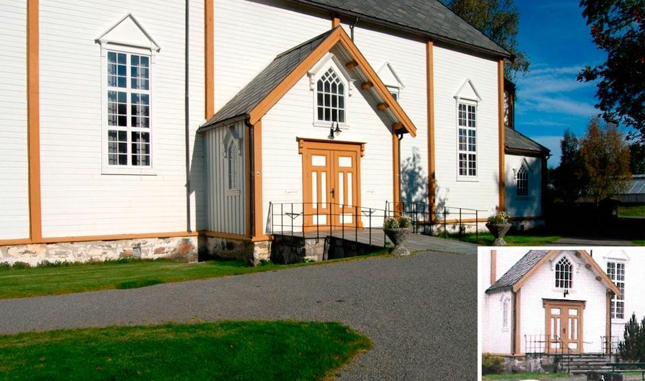 Åfjord kirke har siden 1997 utbedret og gjort inngangen for alle.