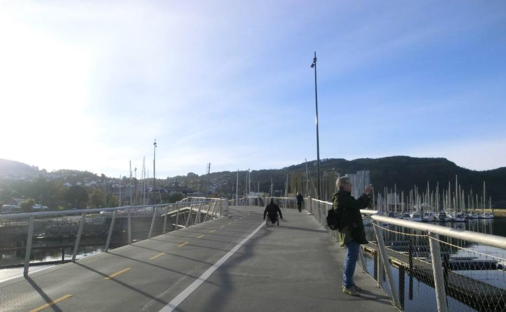 Befaring langs gang- og sykkelstien på Brattøra i Trondheim