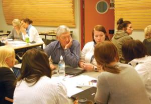 Grundercamp, dialog med studentene.