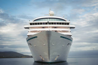 Cruise ship, Crystal Symphony, in Lerwick Harbour
