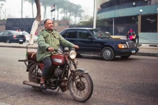 Motorcyclist, Cairo