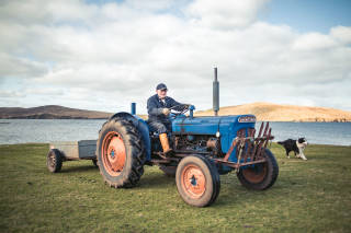 Crofter on tractor