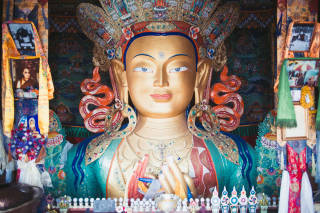 Large gold buddha statue