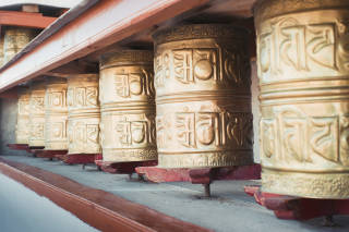 Row of prayer wheels