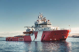 Standby vessel in calm seas