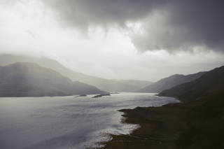 Loch view with dark clouds