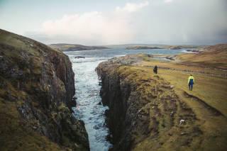Cliffs next to the broch