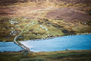 Causeway across Loch of the Brough