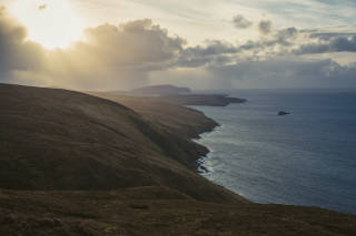 View south towards Fitful Head