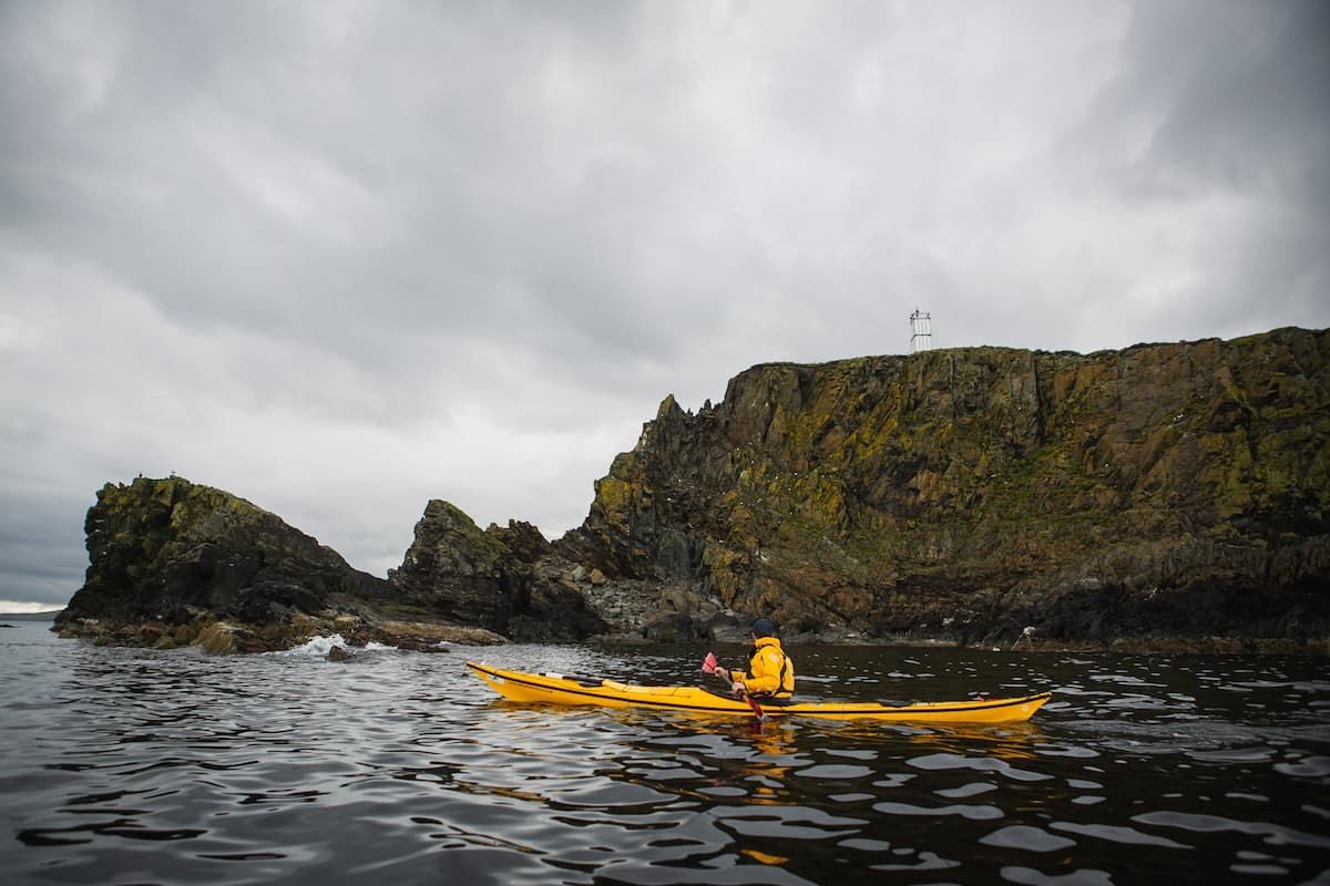 Kayaking at Nesting, Shetland  - July 13, 2020