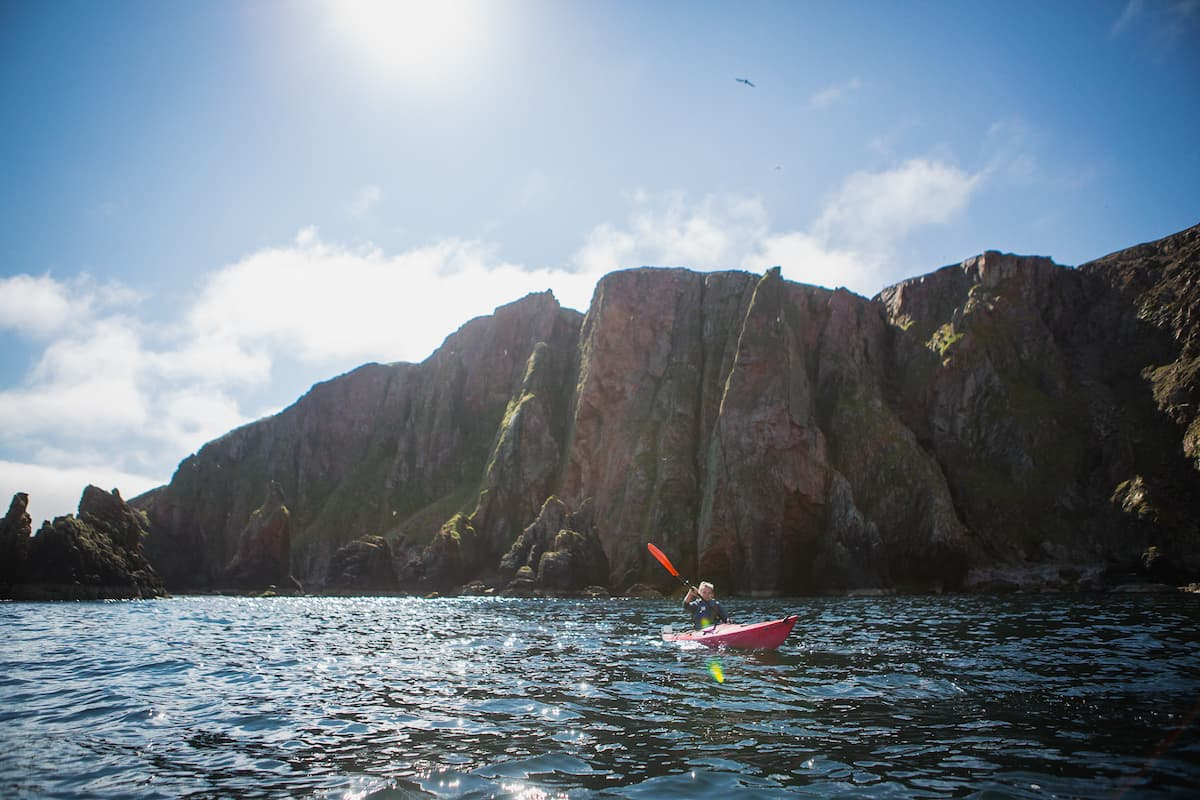 Kayaking at Ronas Voe, Shetland - August 15, 2020
