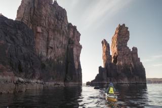 Kayaker at the Drongs