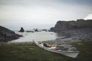 Kayak at the old fishing station, Fethaland