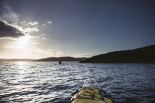 Kayakview at sunset, Gletness