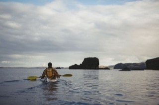 Kayaker north of Quarff