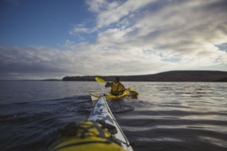 Kayak view, Quarff Bay