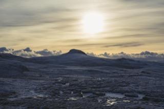 View from Clousta Loch, Shetland