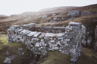 Click Mills on the stream below Fladdabister Loch, Shetland