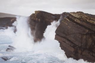 Scat Ness cliffs