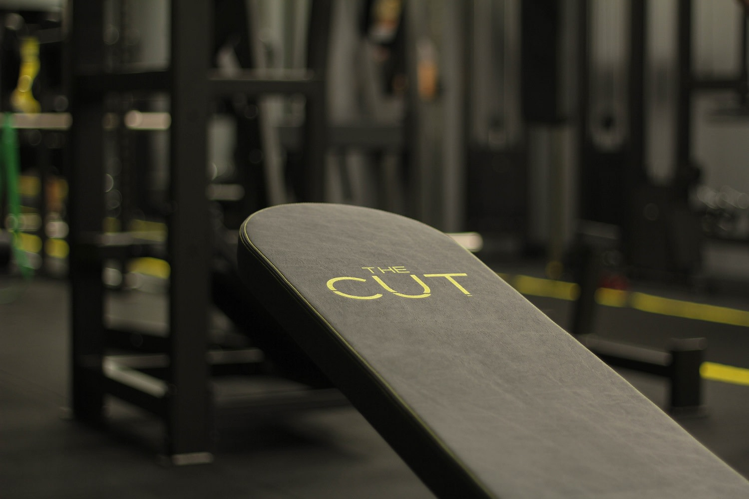 The Cut Studio Bench With Squat Rack in Background