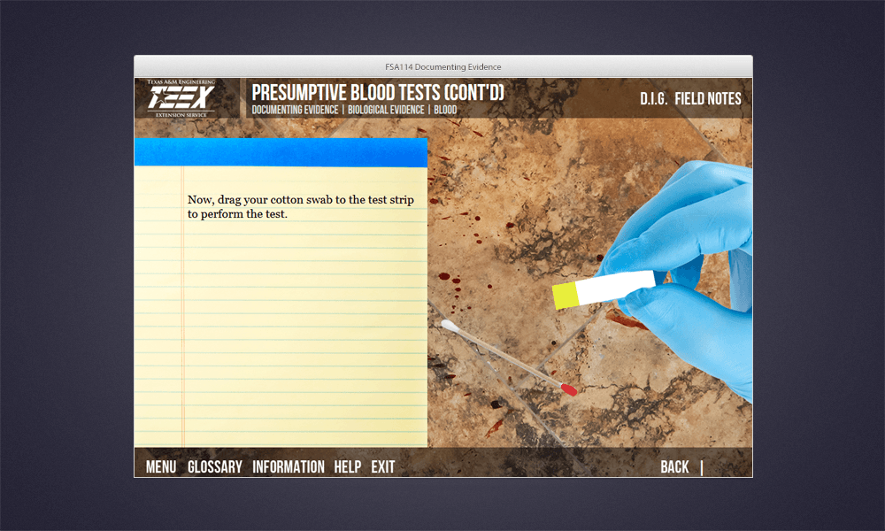 Blood Test simulation