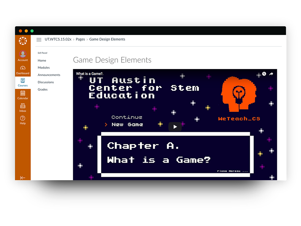 Games and Mobile Module in Canvas