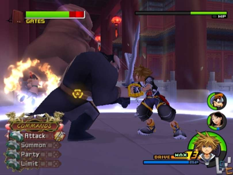 Kingdom hearts II battle