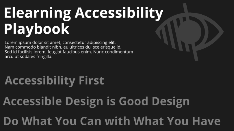 accessibility playbook